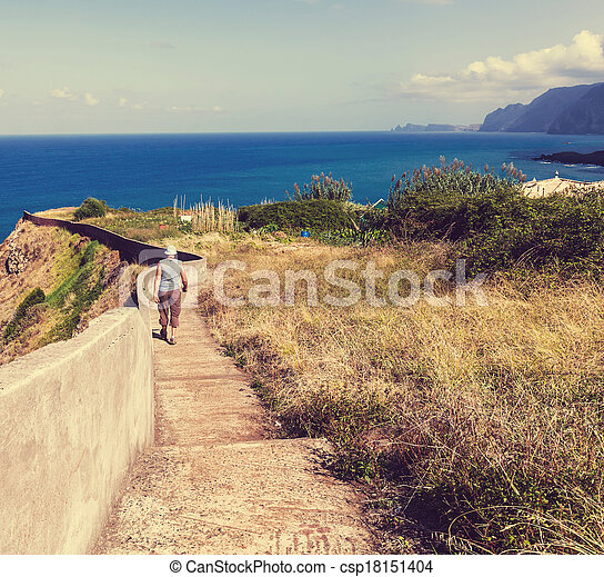 Hike in madeira - csp18151404
