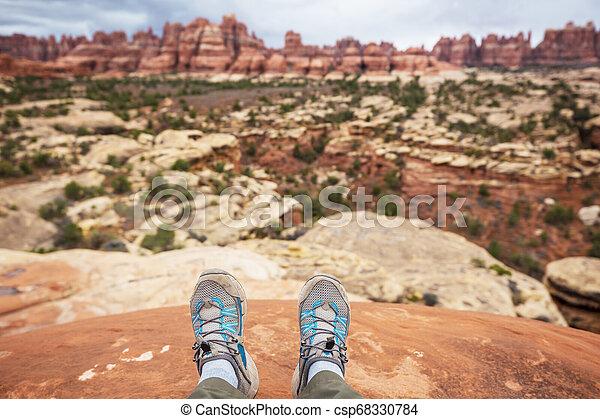 Hike in Utah - csp68330784