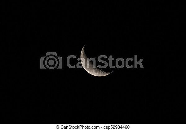 Waning Crescent Moon - csp52934460