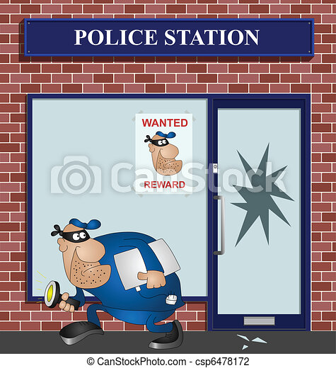 Wanted burglar - csp6478172