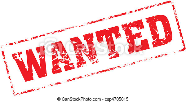 wanted grungy ink stamp vector format very easy to edit rh canstockphoto com clipart wanted sign help wanted clipart