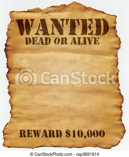 Wanted Dead or Alive - csp3691914