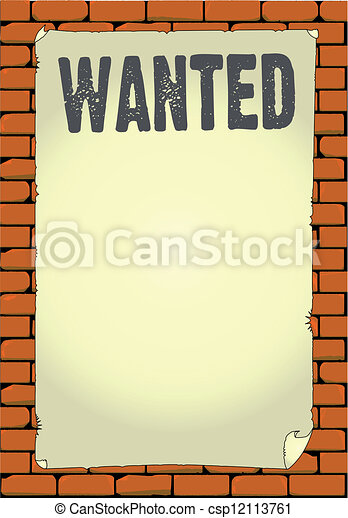 Wanted Poster - csp12113761