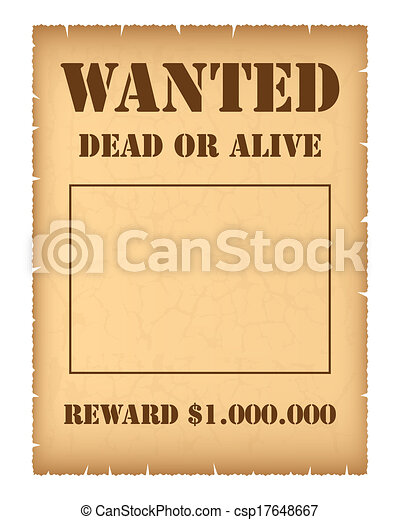 Wanted poster - csp17648667