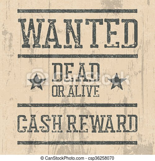 """wanted"""" poster. design template with wanted sign and wooden ..."""
