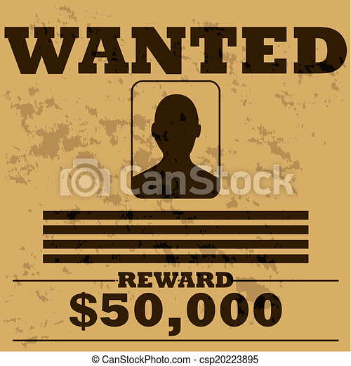 Wanted poster - csp20223895
