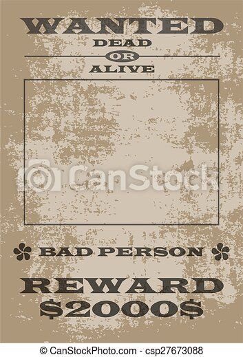 Wanted Poster - csp27673088