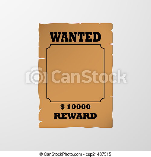 Wanted poster - csp21487515