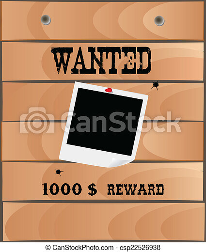Wanted poster, vector - csp22526938