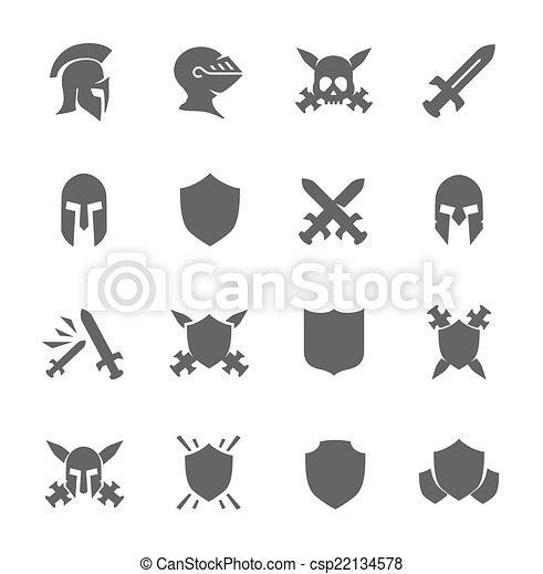 War icons - csp22134578