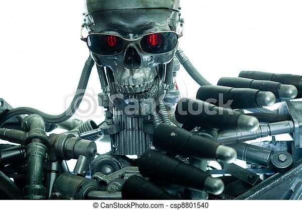 War machine with red eyes - csp8801540