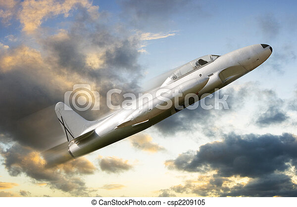 war propeller fighter plane - csp2209105