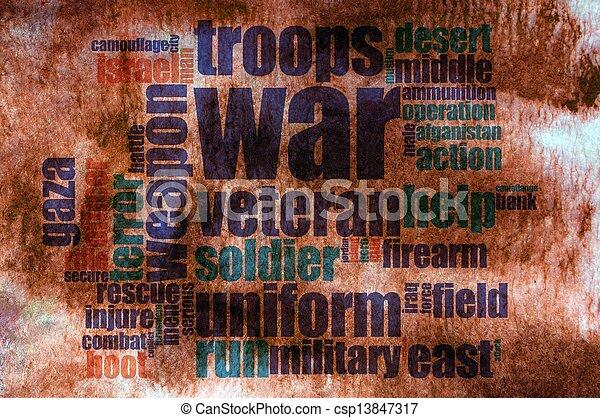 War word cloud - csp13847317