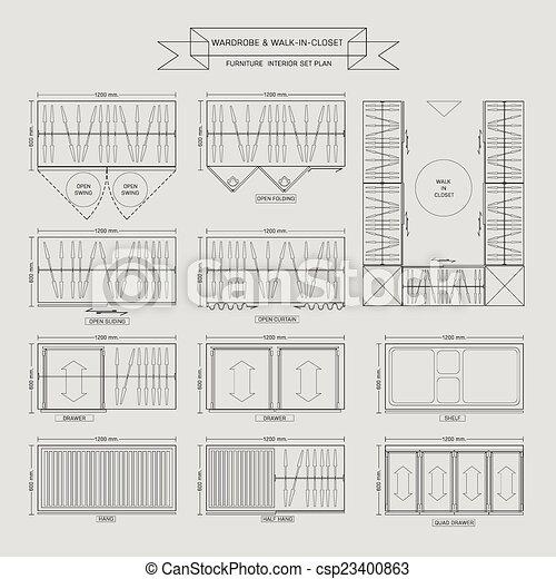 Wardrobe And Walk In Closet Furniture Icon   Csp23400863