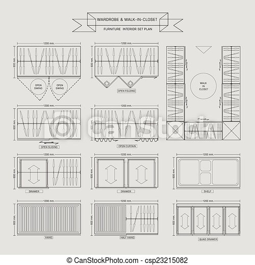 Wardrobe And Walk In Closet Furniture Icon   Csp23215082