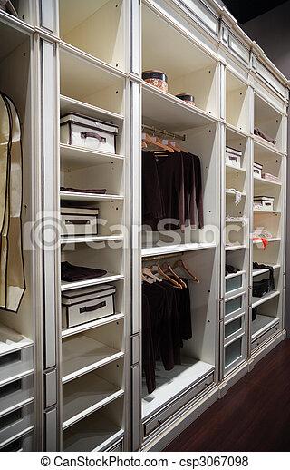 Wardrobe for clothes - csp3067098