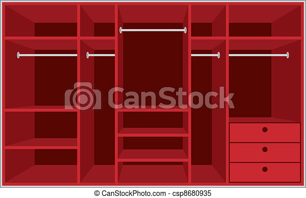 Wardrobe room. Furniture - csp8680935