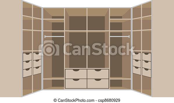 Wardrobe room. Furniture - csp8680929