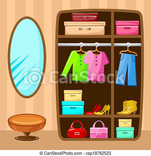 Wardrobe clipart  Wardrobe room. Furniture. Vector illustration vector illustration ...