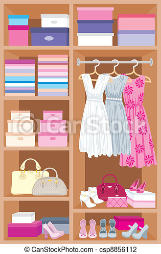 Wardrobe room. Furniture - csp8856112