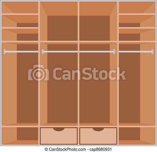 Wardrobe room. Furniture - csp8680931