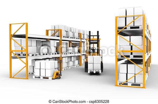 warehouse. - csp6305228