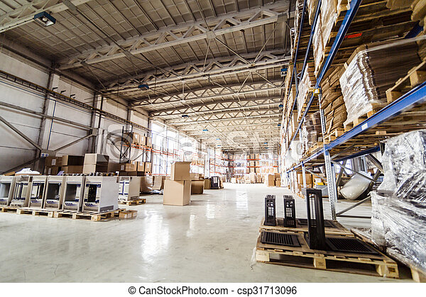 Warehouse and pallets - csp31713096