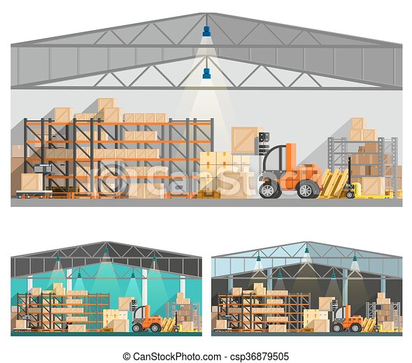 Warehouse And Storage Compositions Set  - csp36879505