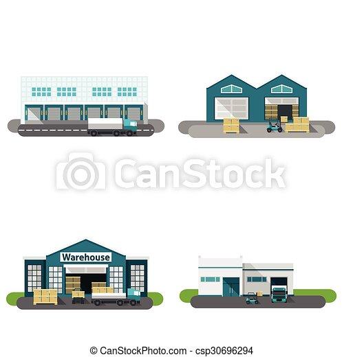 Warehouse Building Flat - csp30696294