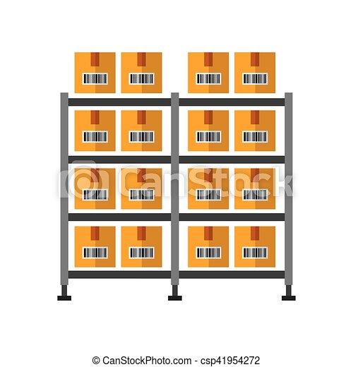 warehouse case isolated icon - csp41954272