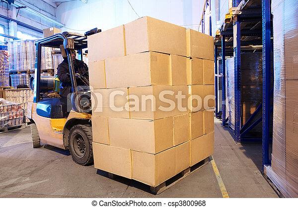 warehouse forklift loader worker - csp3800968