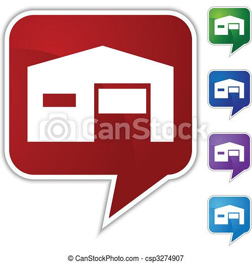 Warehouse Icon - csp3274907