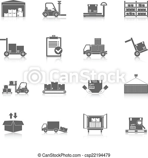 Warehouse icons black - csp22194479