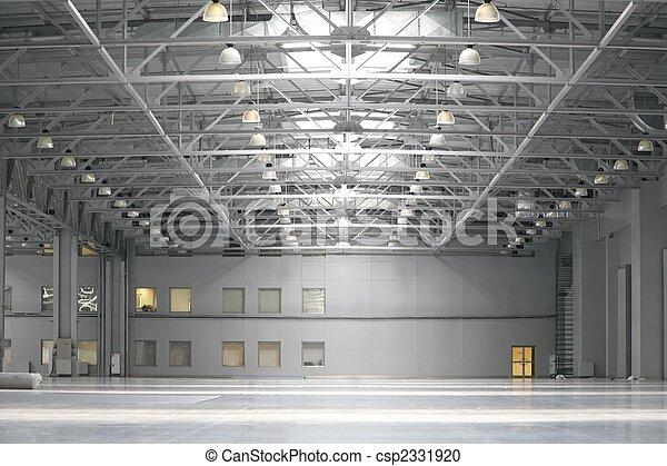 Warehouse in shopping center - csp2331920