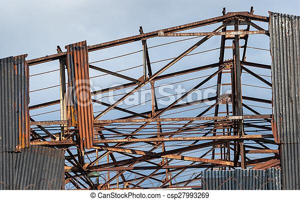 Warehouse Ruin - csp27993269