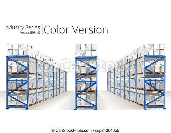 Warehouse Shelves. - csp24304855