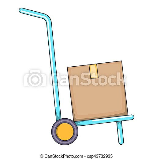 Warehouse trolley icon, cartoon style - csp43732935