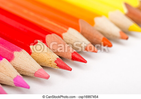 Warm Color Pencils - csp16997454