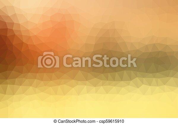 Warm Orange Low Poly Background - csp59615910