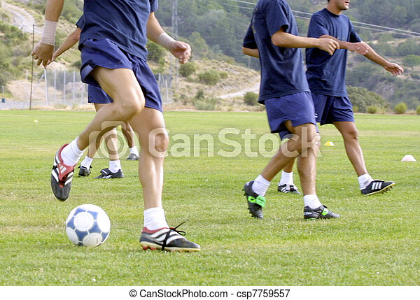 warm up for a soccer training - csp7759557