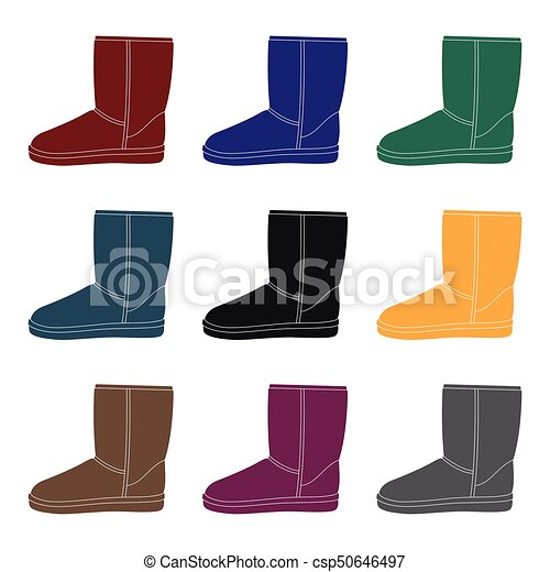 df050086e6 Warm winter blue ugg boots. Comfortable winter shoes for everyday wear  .Different shoes single icon in black style vector symbol stock  illustration.