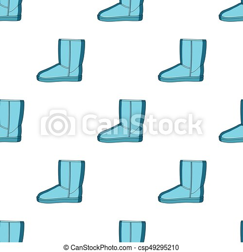 fa891ef28a Warm winter blue ugg boots. Comfortable winter shoes for everyday wear  .Different shoes single icon in cartoon style vector symbol stock  illustration.