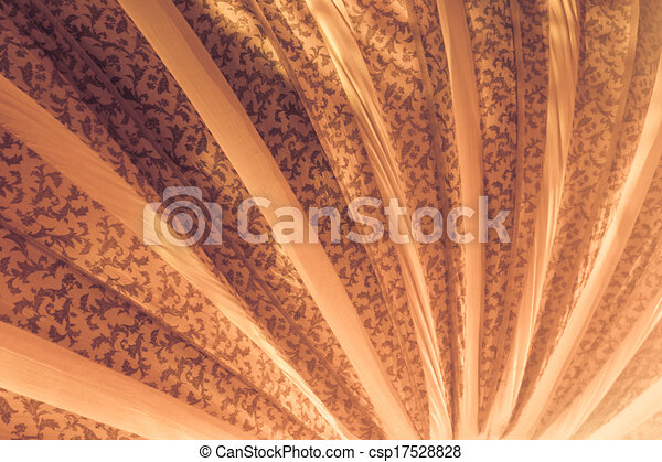 Curved Lines In Art : Warm yellow curved lines the interior of a circus tent clip