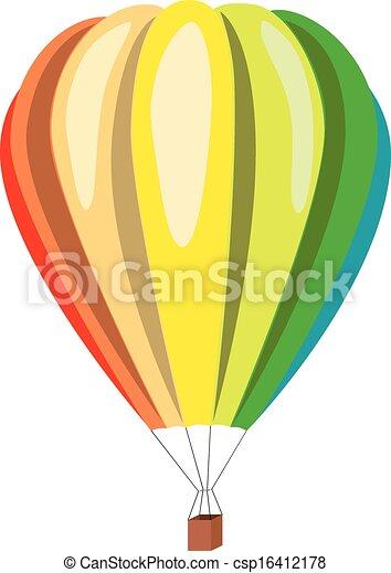 warme, balloon, lucht - csp16412178
