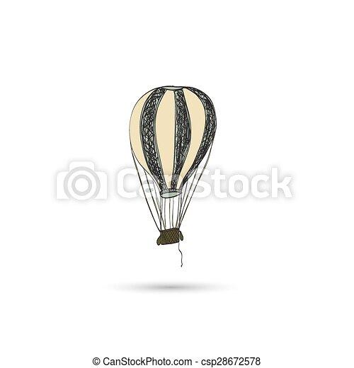 warme, balloon, lucht - csp28672578
