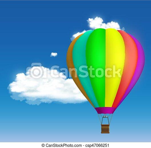 warme, balloon, lucht - csp47066251