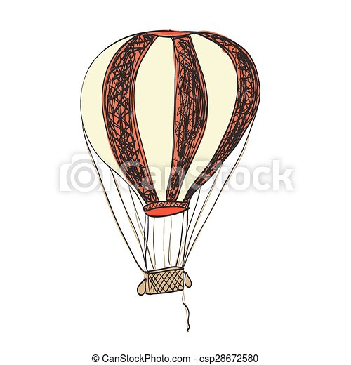 warme, balloon, lucht - csp28672580