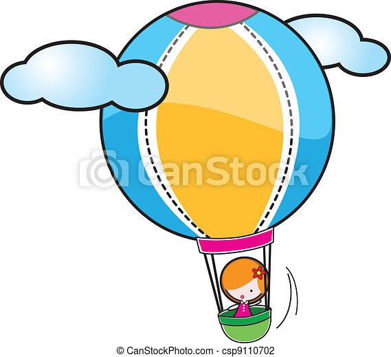 warme, balloon, lucht - csp9110702