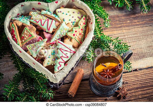 Warming Christmas sweet tea - csp39084807