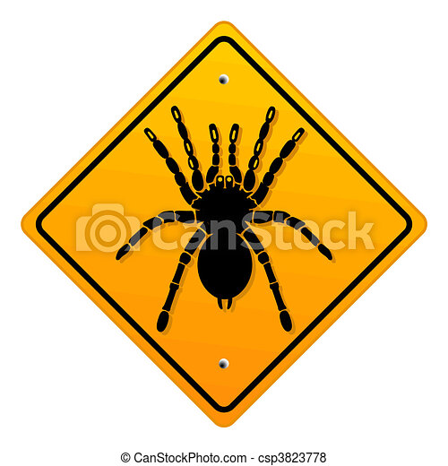 warning bird spider - csp3823778